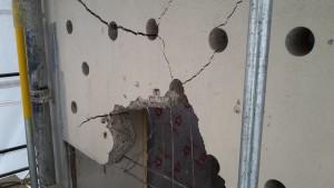 Concrete Bursting - Broken panel
