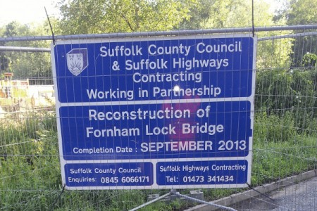 Suffolk Floor Sawing at Fornham Lock Bridge