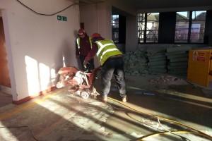 Cutting of lift shaft